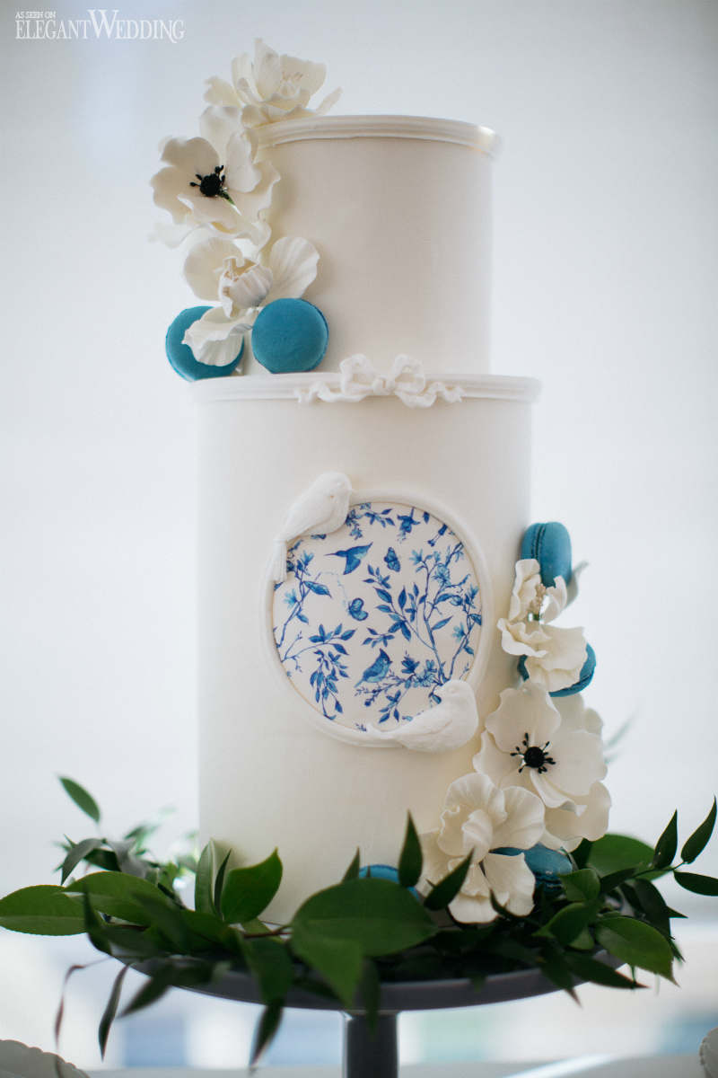 Blue Porcelain Cake