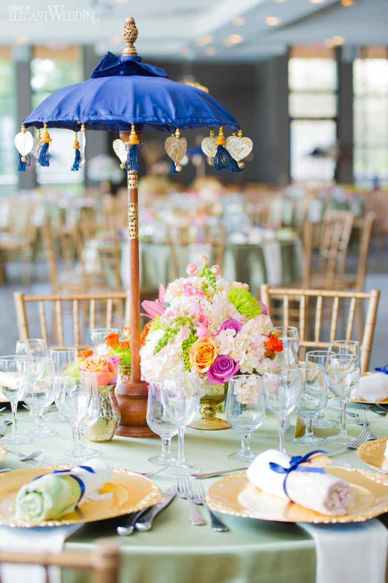 Blue and Gold Bridal Shower