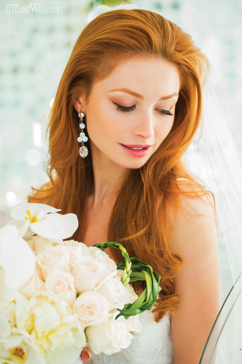 Redhead Bridal Hair and Makeup