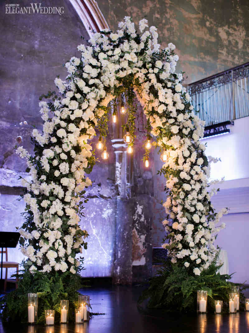 White Wedding Arch Ideas