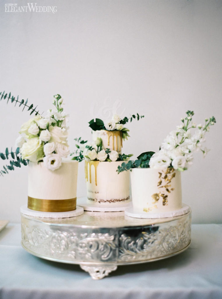A Trio of Mini Wedding Cakes