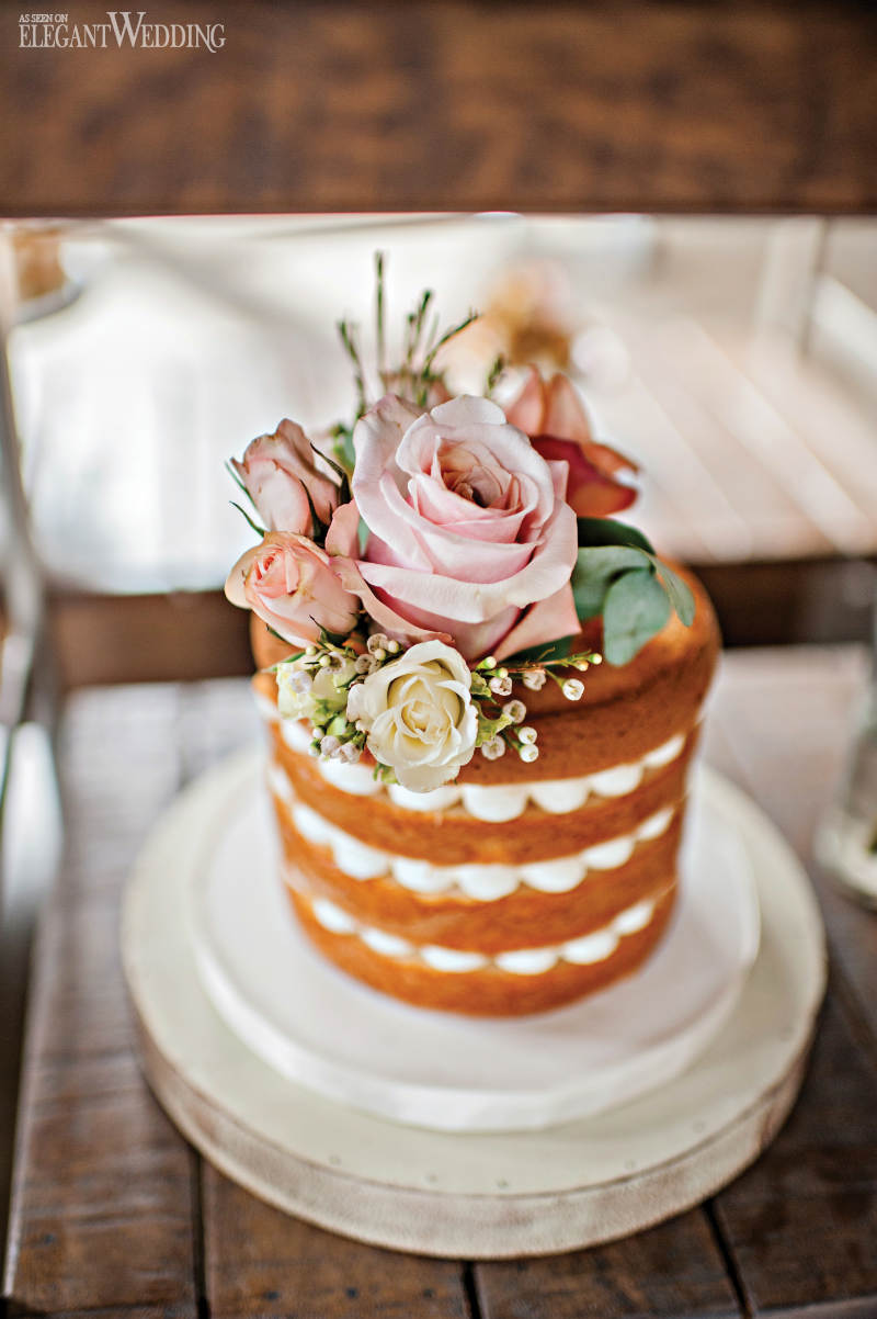 Mini Naked Wedding Cake