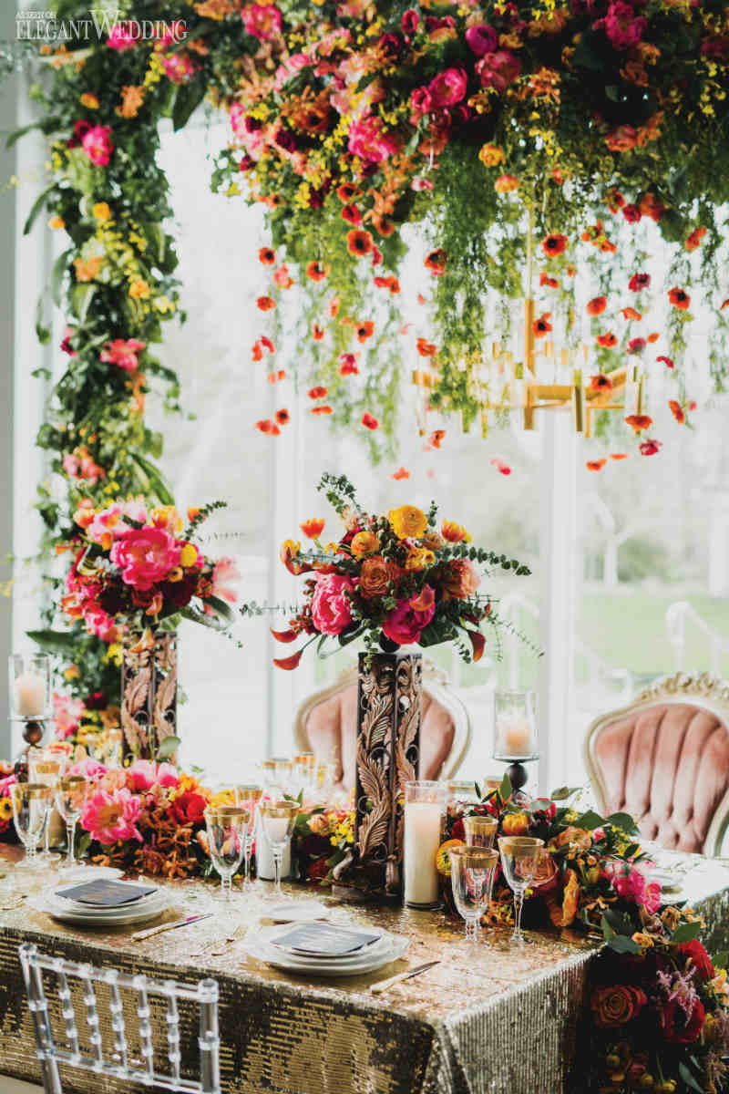 Pink and Yellow Centrepieces