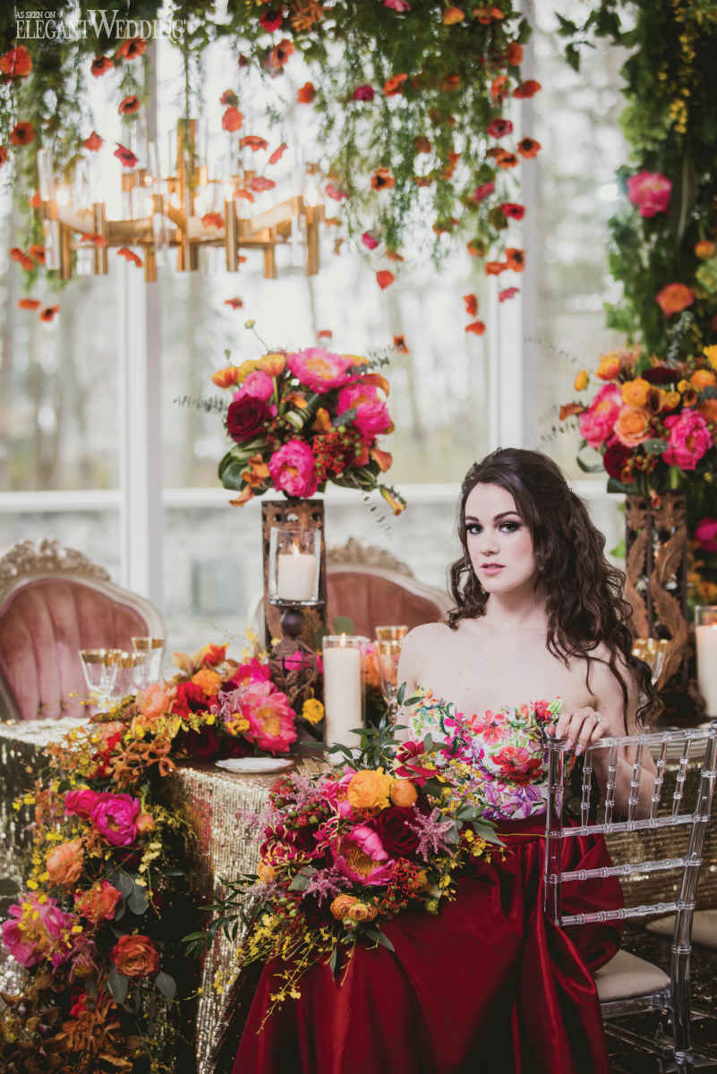 Red Wedding Table Decor