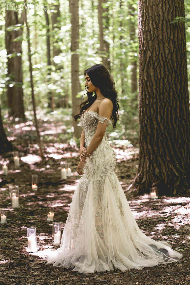 Sexy Off the Shoulder Wedding Dress