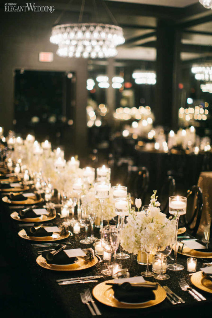 Black And Gold Wedding Inspiration Elegantwedding Ca