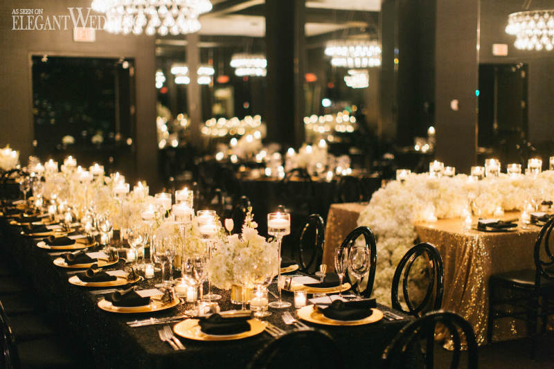 Black and Gold Wedding Theme