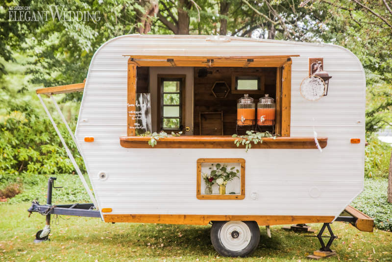 Mobile Trailer Wedding Decor