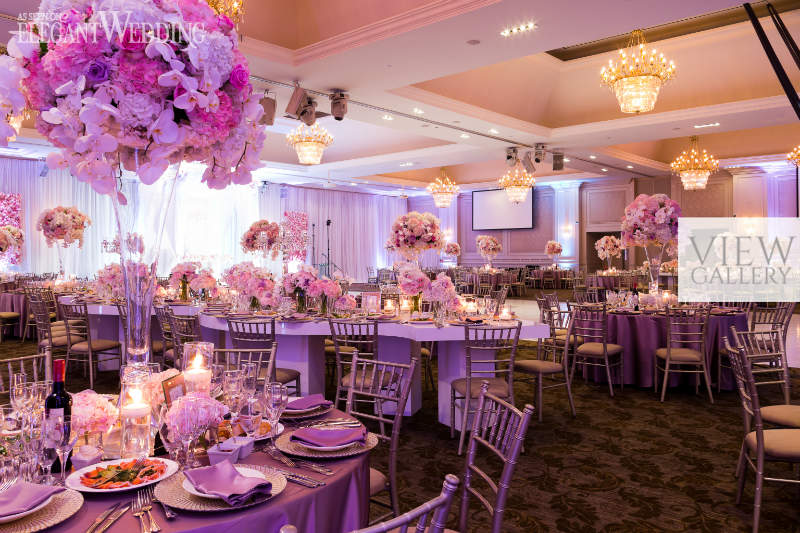 Beautiful Pink And Purple Wedding Elegantwedding Ca