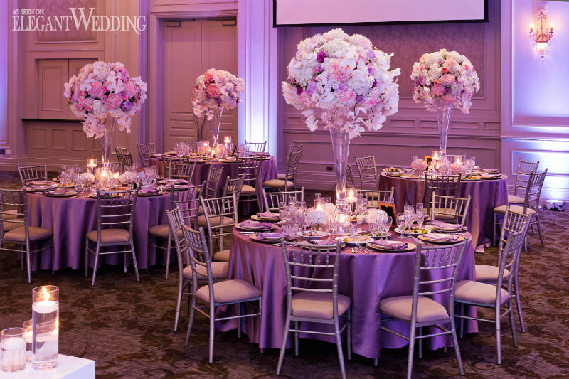 Pink Wedding Centrepieces