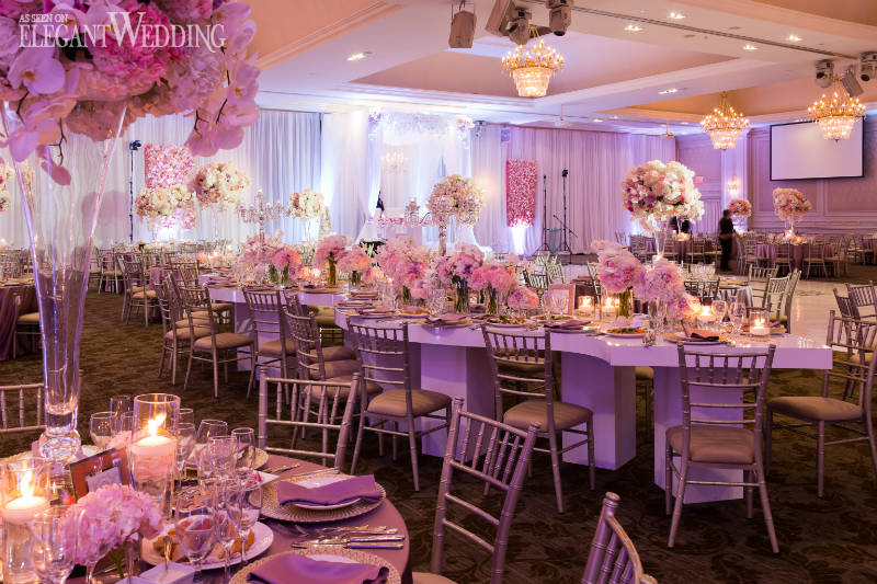 Beautiful Pink And Purple Wedding Elegantwedding