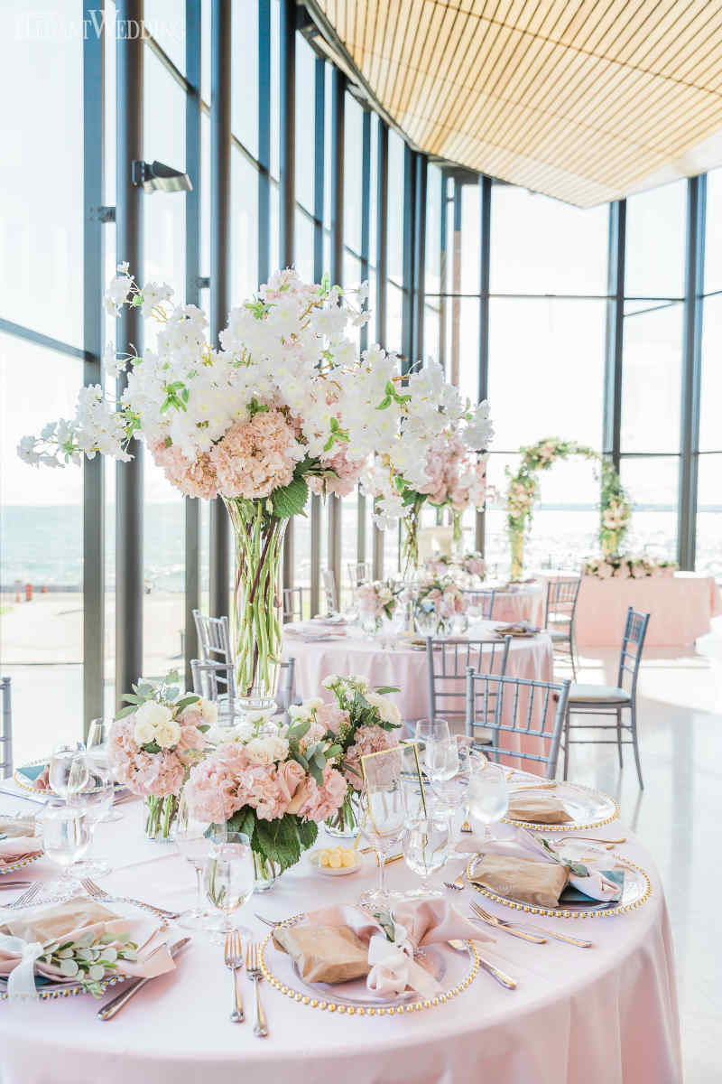 Cherry Blossom Wedding Centrepieces