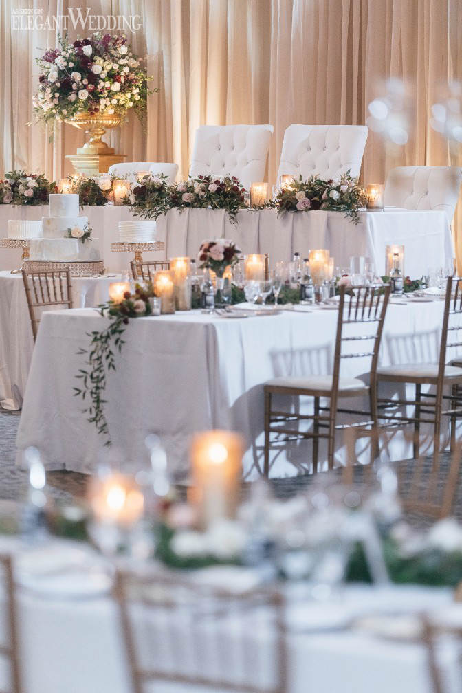 Candles and Greenery Wedding