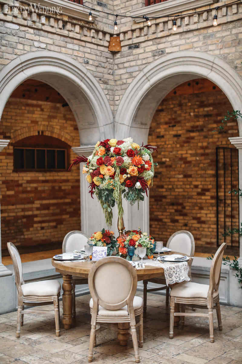 Latin-Inspired Wedding Table Setting