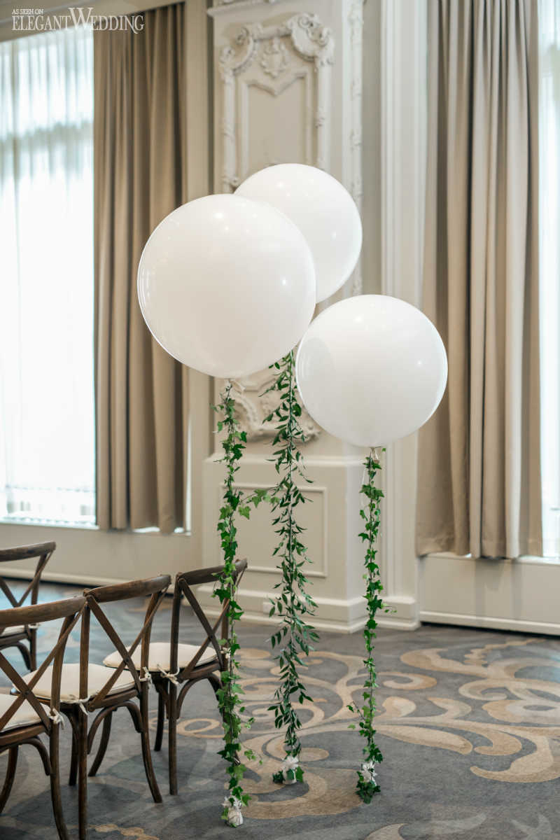 Balloons with Greenery