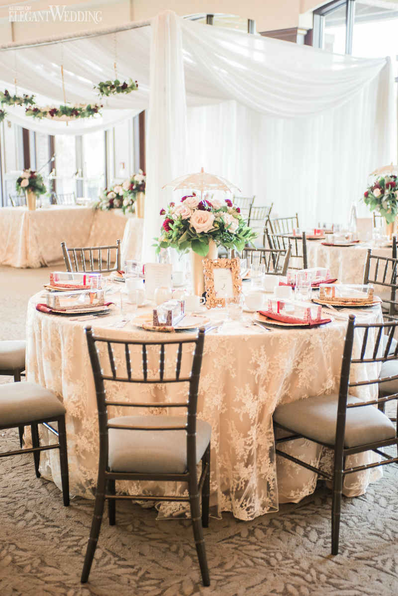 Burgundy Bridal Shower Inspiration Elegantwedding Ca