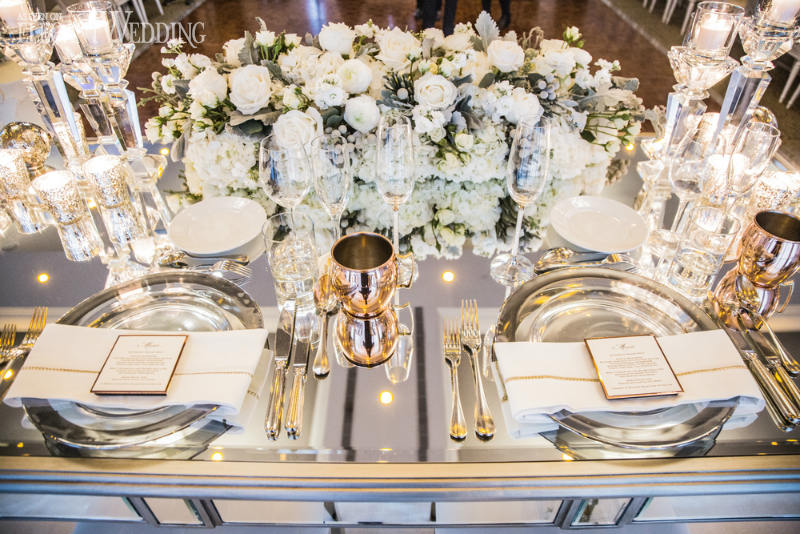 Vibrant White and Gold Wedding Decor Ideas, elegant wedding white gold winter wedding ideas11