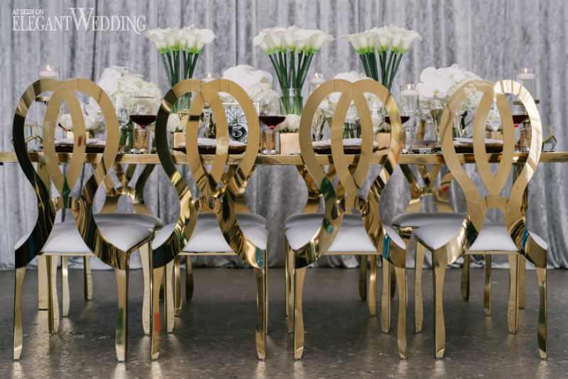 Glamorous Gold Wedding Chairs