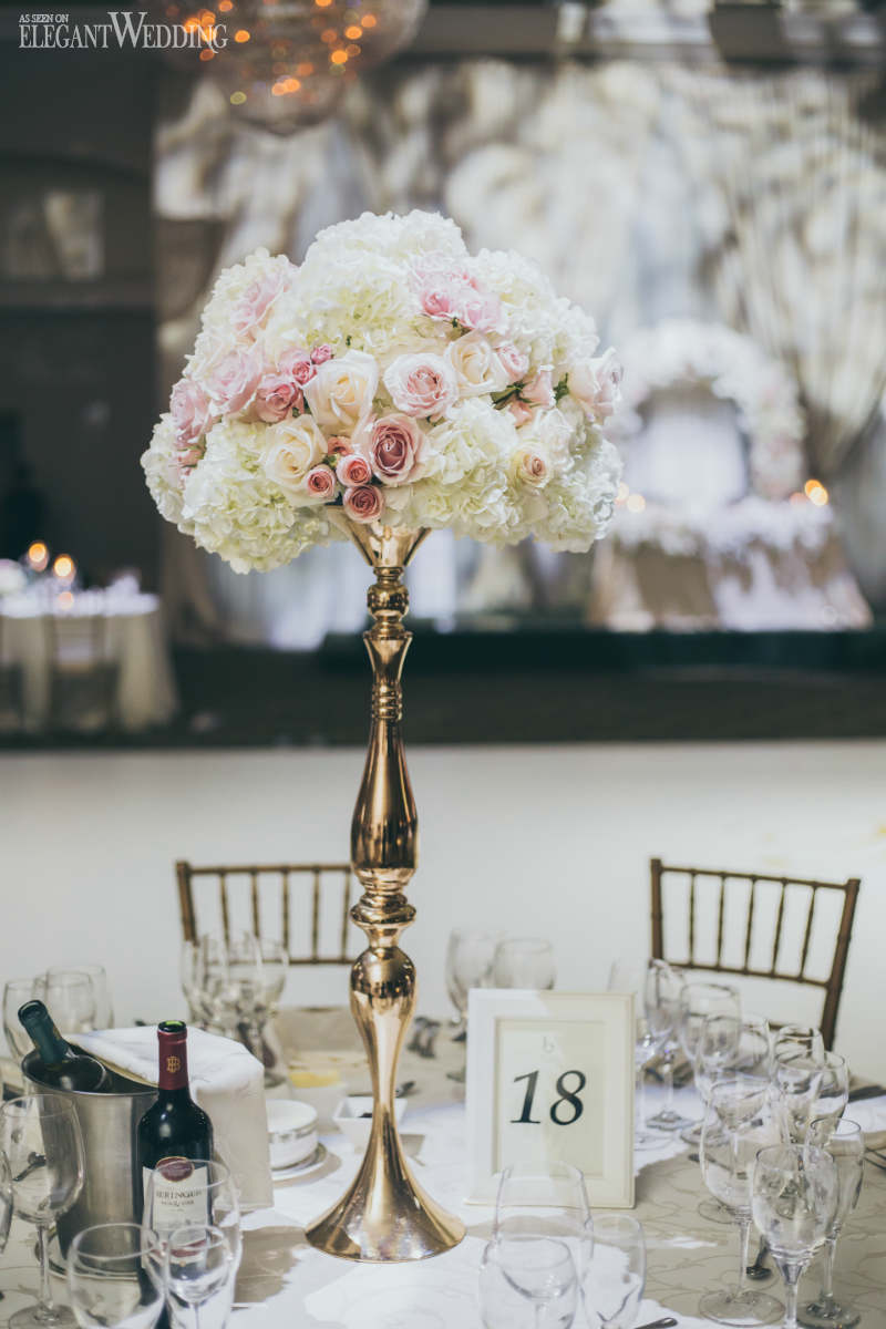 Rose and Hydrangea Centrepieces