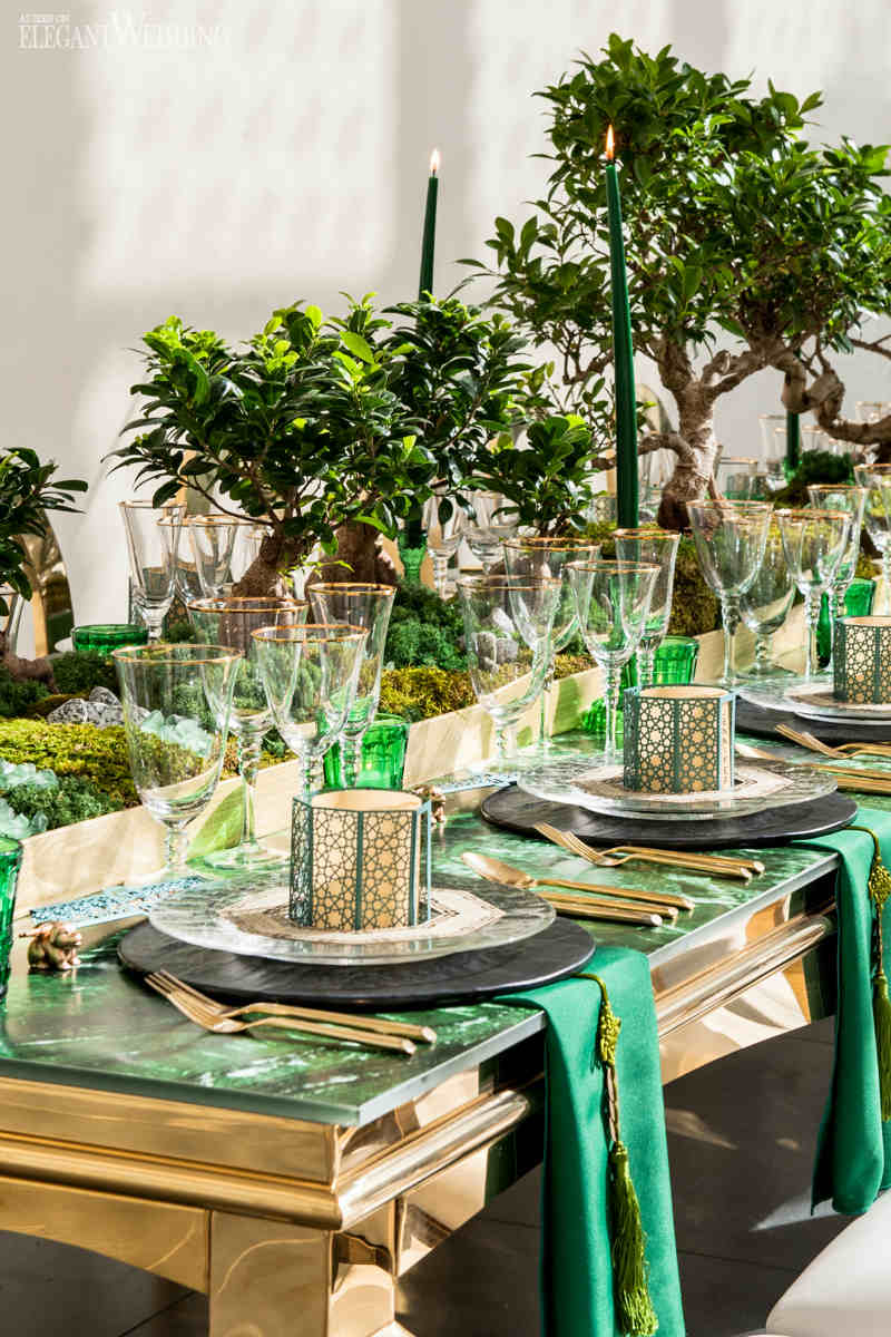 Green and Gold Wedding Theme