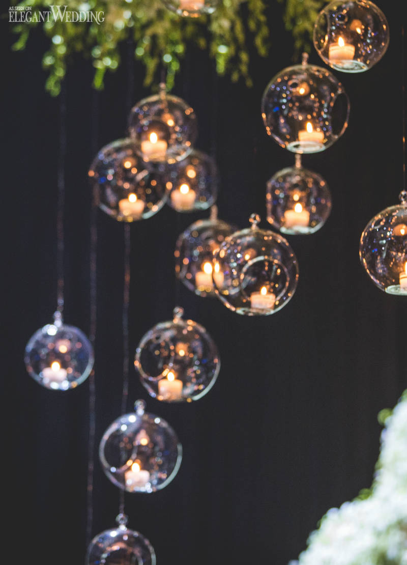 Glass Bulb Wedding Decor