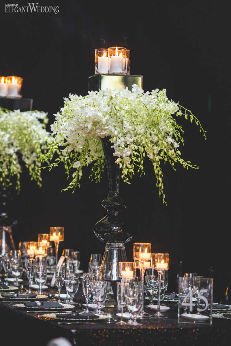 Black and White Wedding Tables