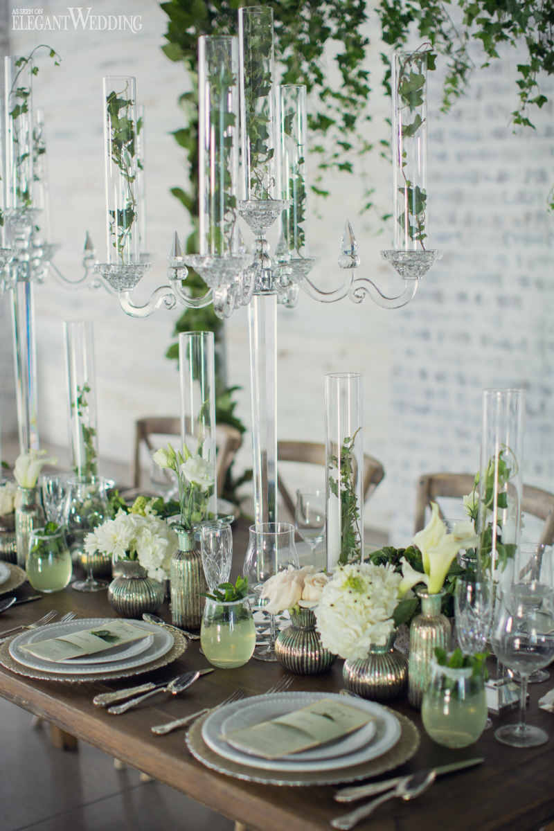 Mint Green Table Setting