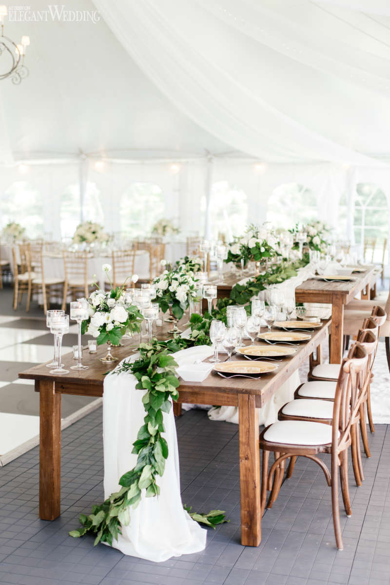 Greenery Floral Runner Ideas