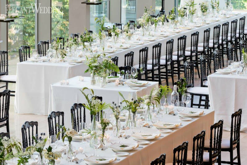 Black And Green Wedding Table Setting