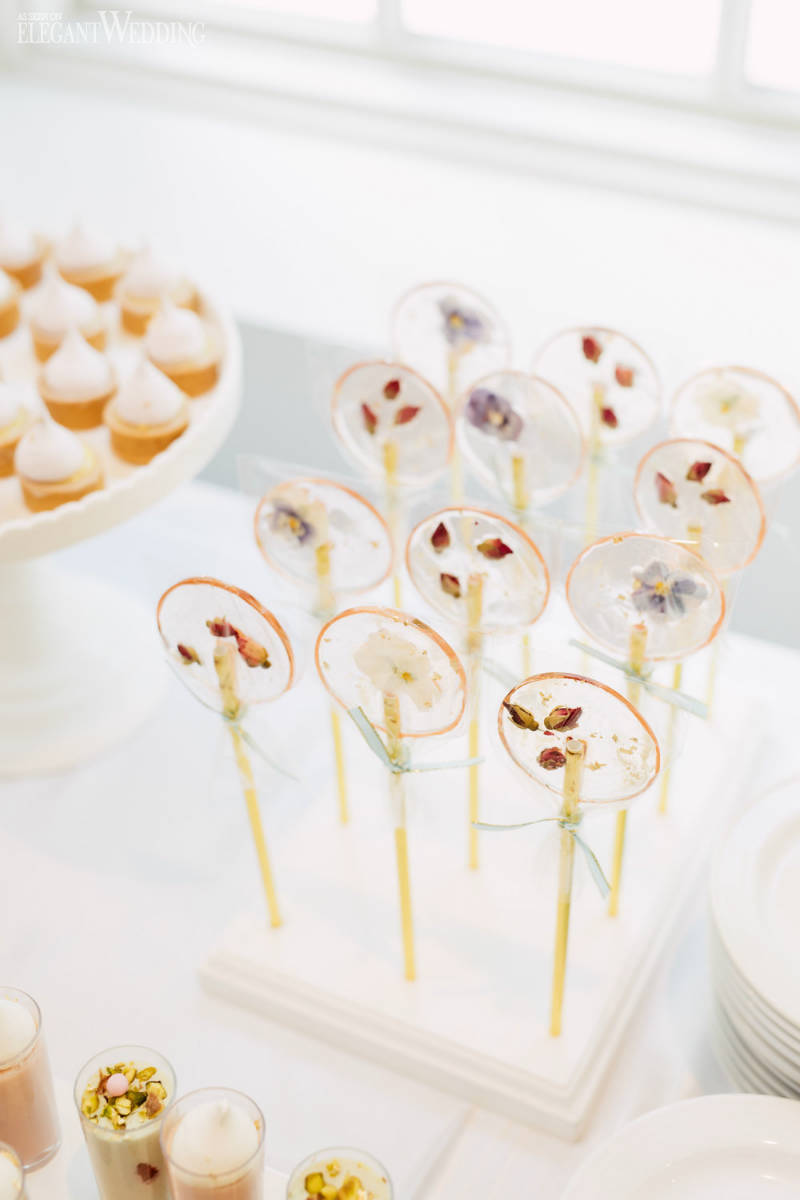 Edible Flower Lollipop Ideas