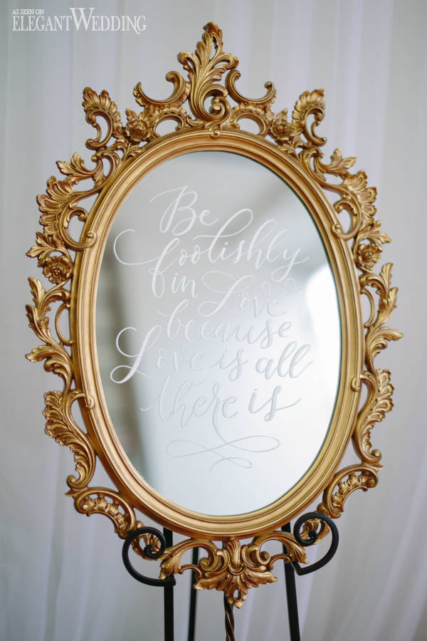 Wedding Mirror Ideas