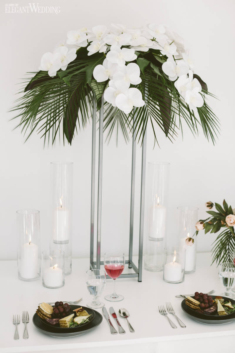 Palm Leaf Centrepieces