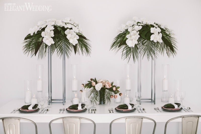 Tropical Wedding Table Setting