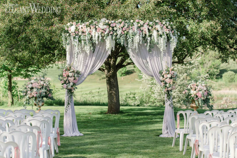 Romantic Blush Garden Wedding