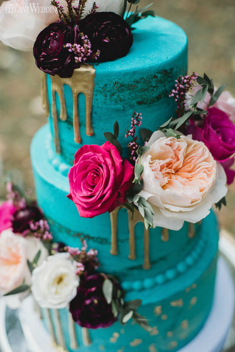 Teal Wedding Cakes