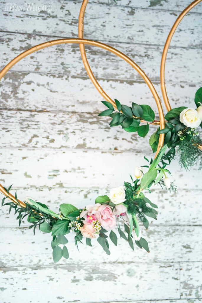Wedding Floral Hoops