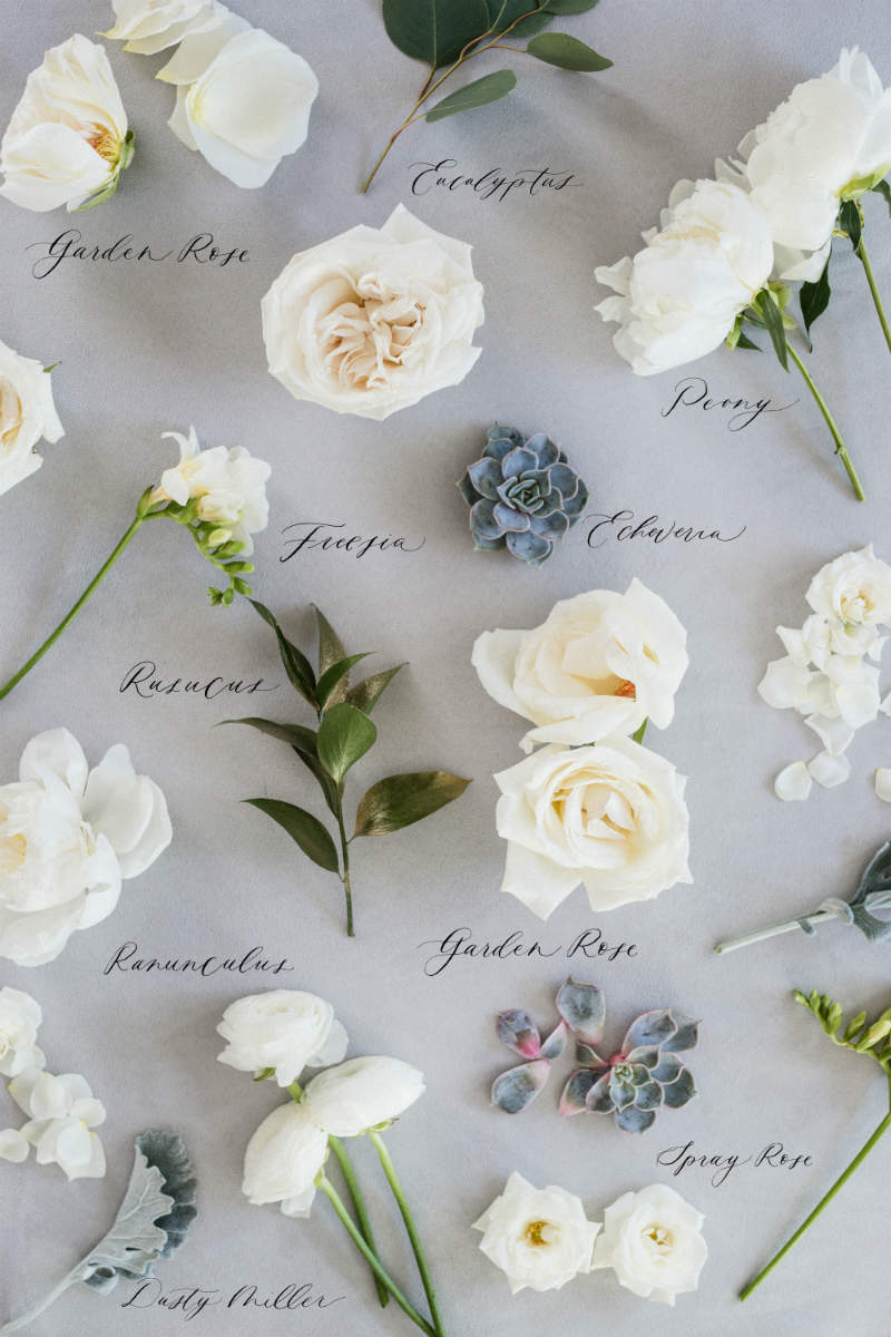 Types of Wedding Flowers by Colour