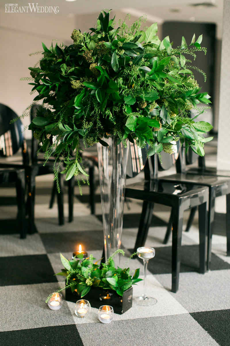 Greenery Wedding Ceremony Flowers
