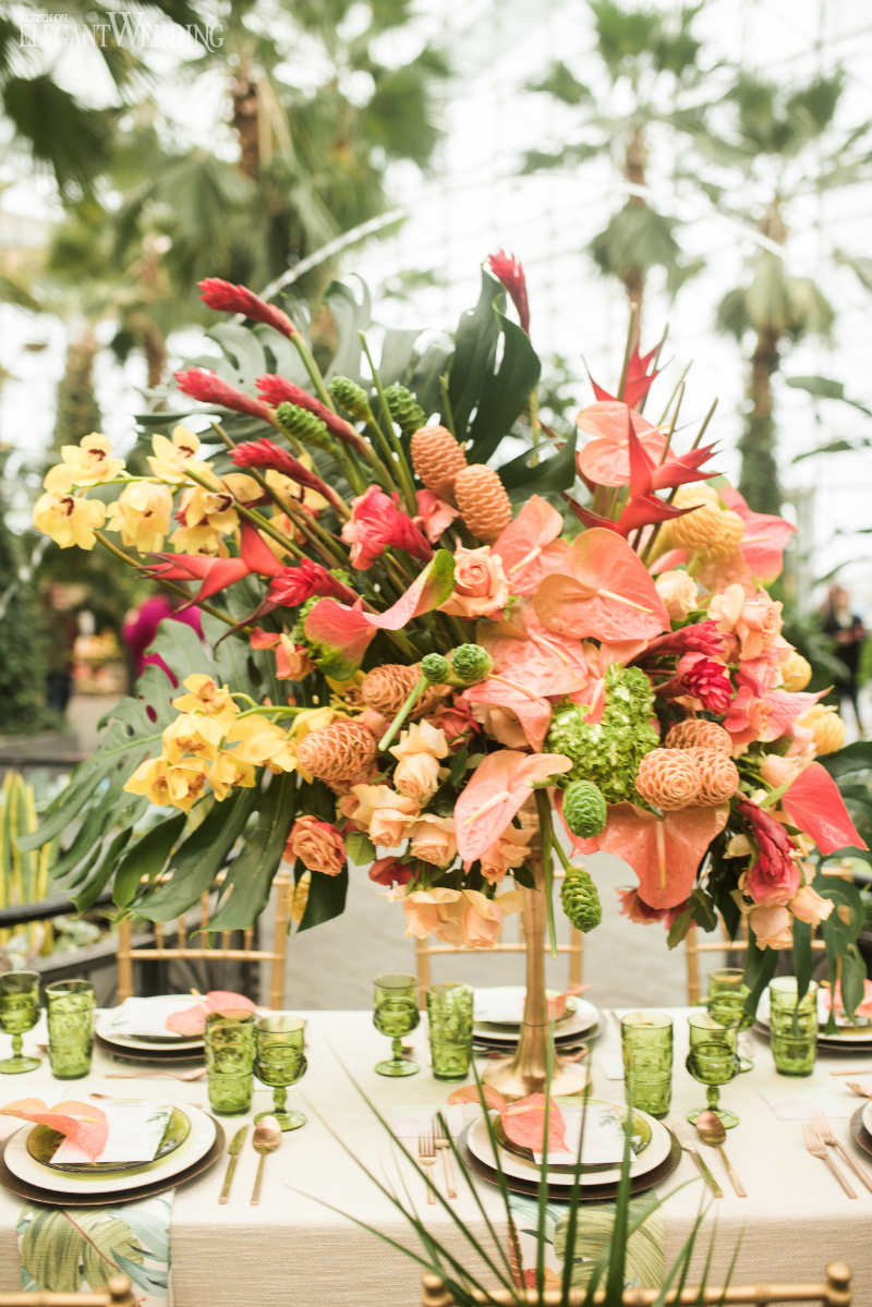 Colourful Wedding Centrepieces