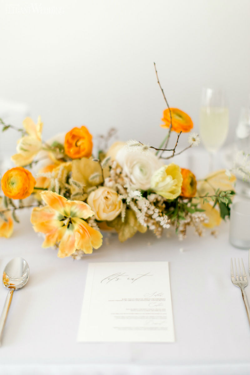 Bright Yellow Centrepieces
