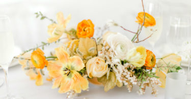 Yellow Wedding Centrepieces
