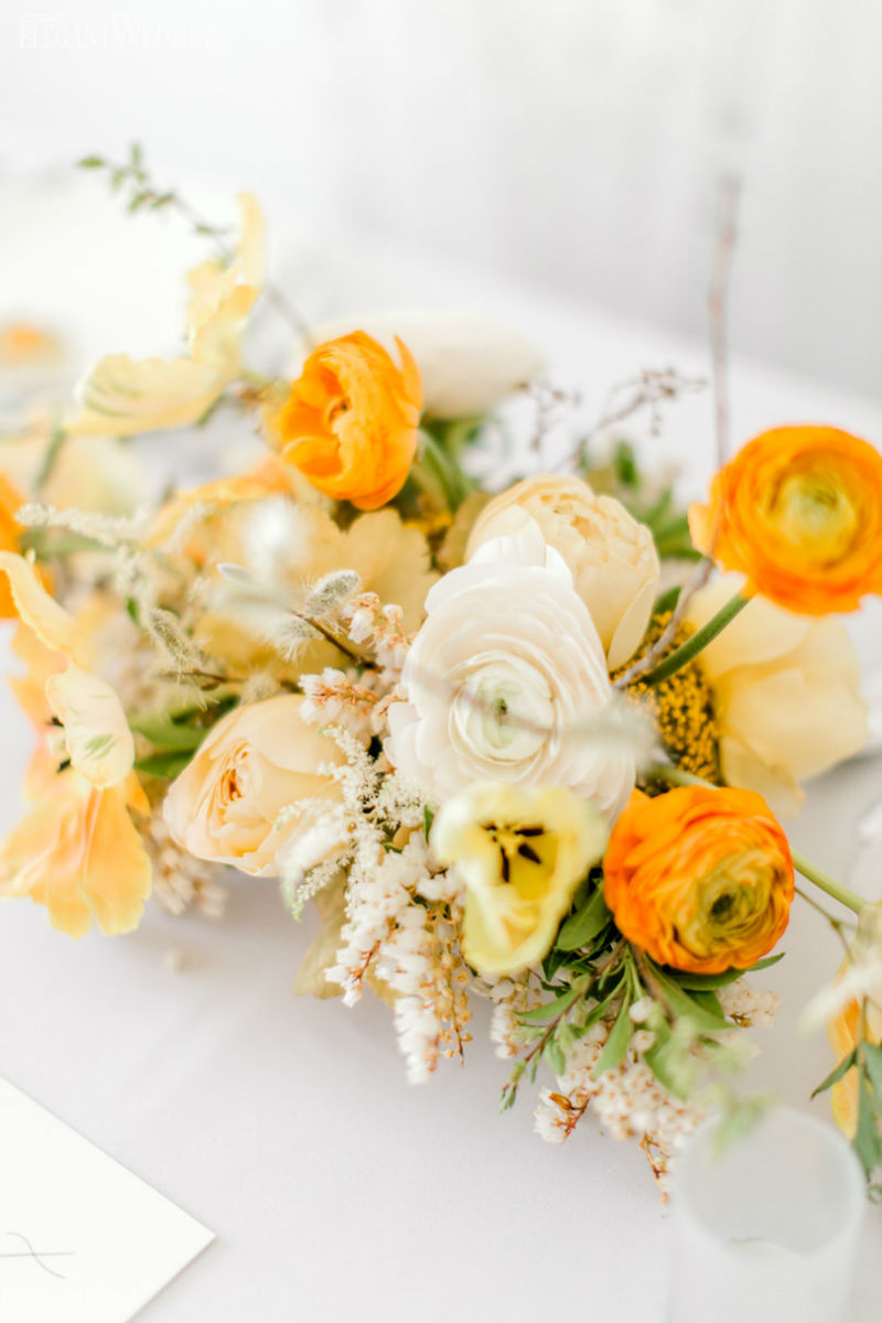 Bright Wedding Centrepieces