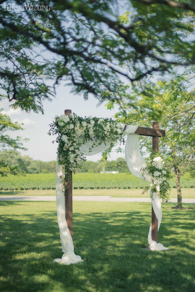 Wooden Wedding Arch with Greenery