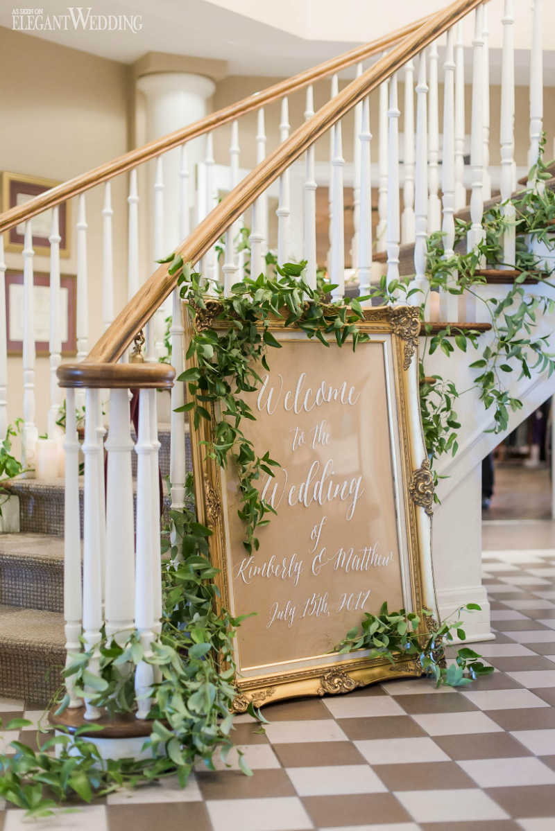 Greenery Staircase Decor