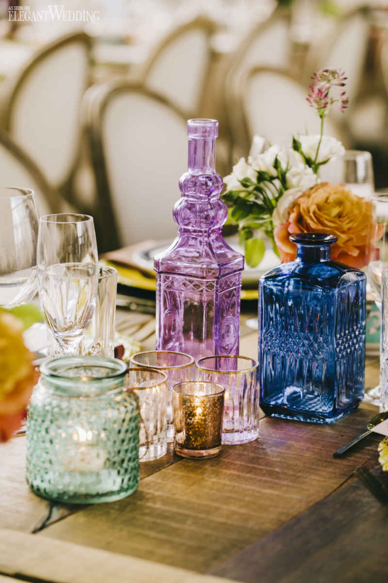 Colourful Wedding Glassware
