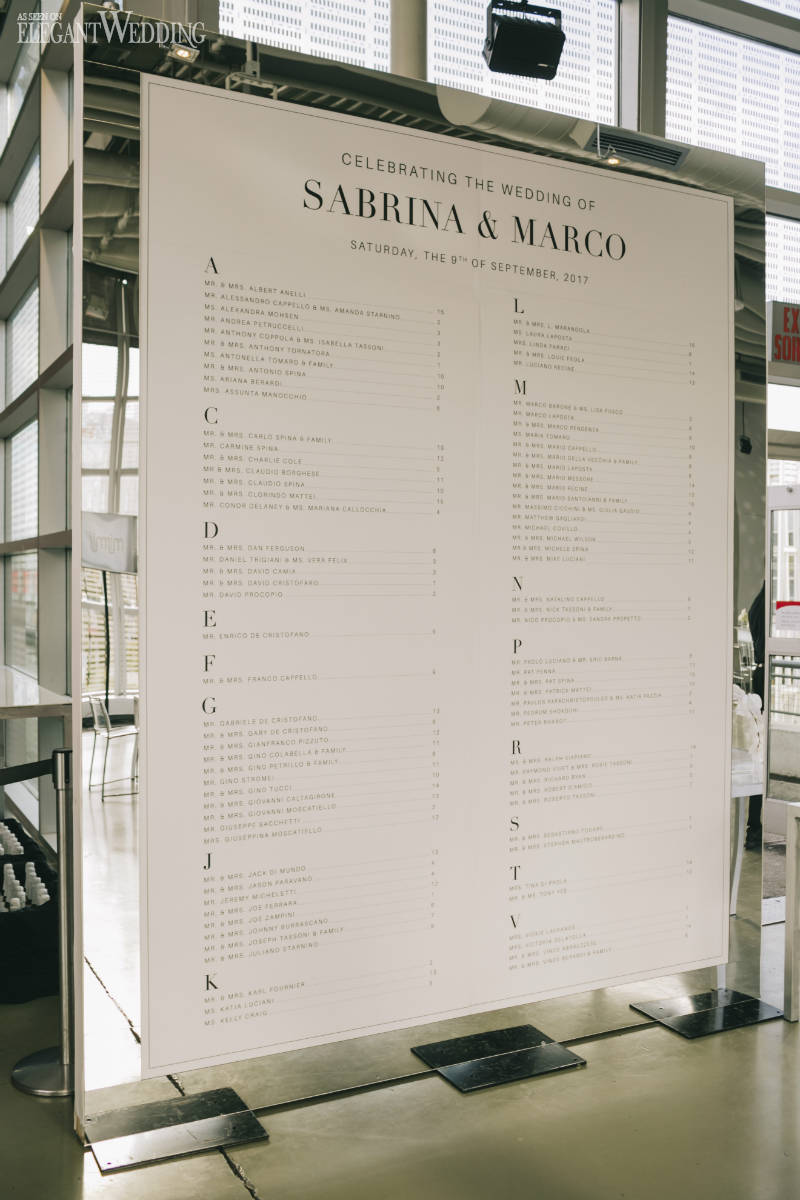 Modern Wedding Seating Chart