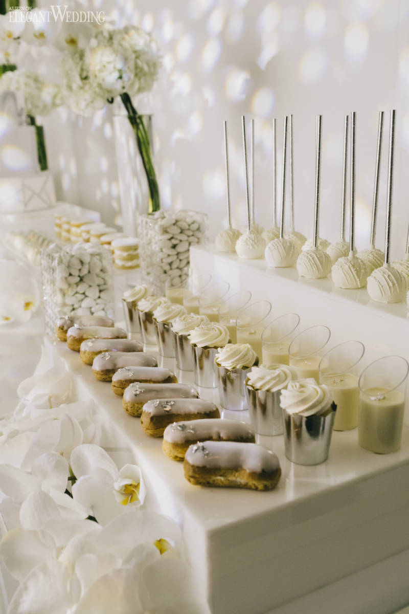 All-White Wedding Sweet Table