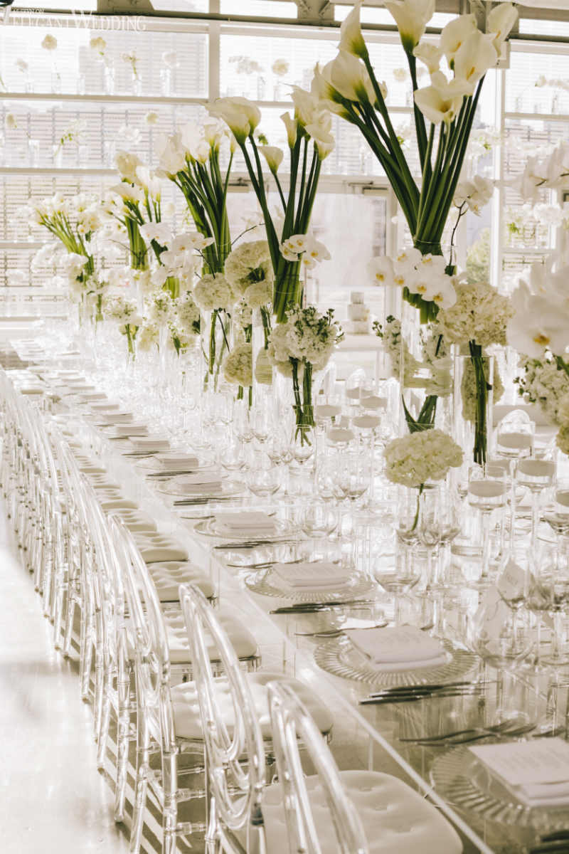 Clear Wedding Table Setting