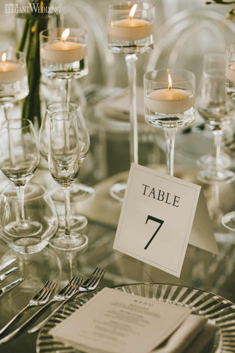 Clear Wedding Tableware