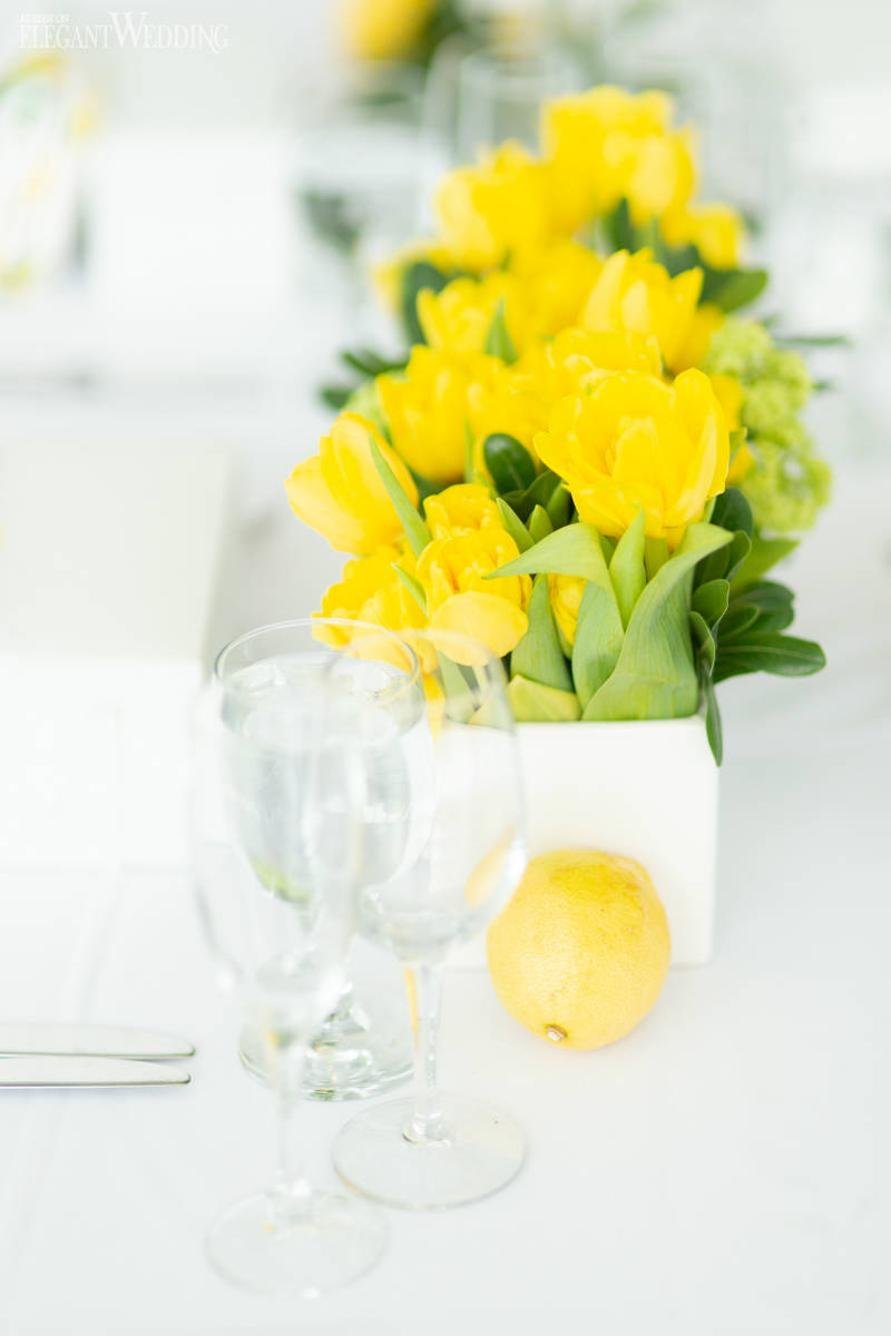 Yellow Tulip Centrepieces